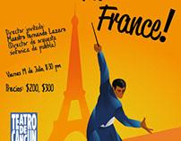 Cartel: ¡Viva la france!