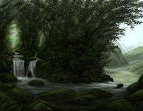 Jungle waterfall concepts