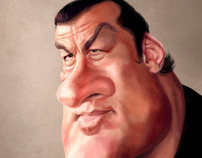 Steven Seagal caricature