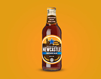 Newcastle Brown Ale Label Concept Design