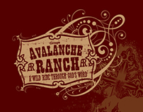 Avalanche Ranch t-shirt design
