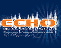 Falls Creek t-shirt design