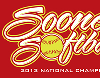 """Sooner Softball"" t-shirt design"