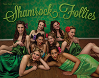 """Shamrock Follies"" poster design"
