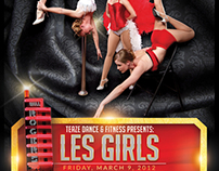 """Les Girls"" poster design"