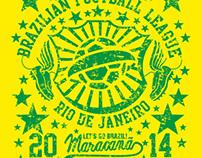 2014 brazil football vector art
