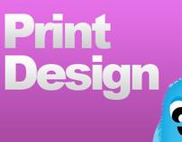 An array of Print Design