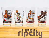 Trailblazers Caricature Drinking Glasses