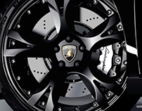 Lamborghini wheels vector