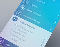 iOS7 style app