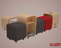 Attach / Pouf & Coffee Table
