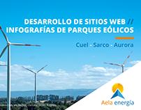 Desarrollo Web y diseño de infografías Aela Energía