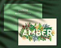 AMBER - birth card