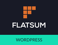 FLATSUM- Minimal Multipurpose WordPress Theme