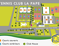 Map Tennis Club La Pape