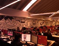 Diseño Mural Agencia  E- NNOVVA