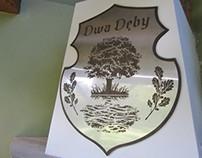 Dwa Dęby/Two Oaks fireplace decoration