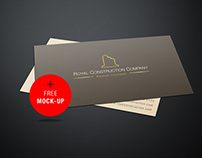 Free Business Card Mockup Template