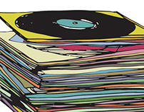 MUSIC RECORD ILLUSTRATION