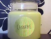 My new cannabis scented candle.  Really potent scent:)