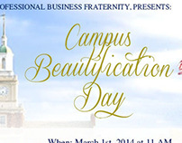 AKPsi Campus Beautification Day Instagram flyer