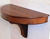 Wall Hung Demilune Table