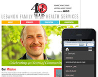 Website for Lebanon Family Health Services
