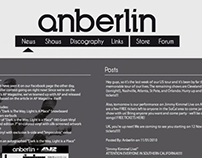 Anberlin - Website Design