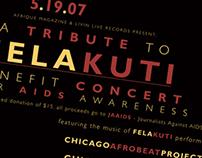 Fela Kuti Tribute & Benefit concert poster