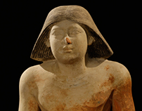 3D model of the Scribe - Egyptian archeology discovery