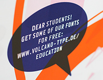 VolcanoType – Poster #1 Free fonts for students