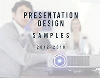 Presentation Design Samples 2012-2018