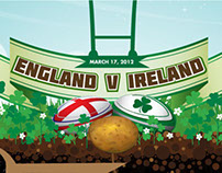 Ireland v England Rugby Infographic