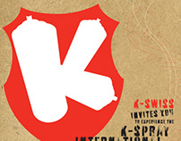 K-Swiss, K-Spray Invite Design
