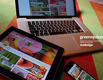 GreenO Juices - Web Design