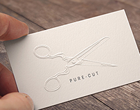 Pure Cut, Appointment card illustration