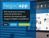 UI/UX, Red social