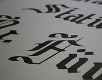 Blackletter Calligraphy Practice