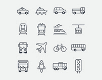 Transportation Vector Icons