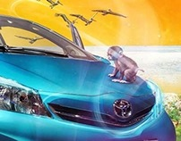 Toyota ad campaign : Yaris breathes nature
