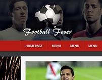 Football fever 2014 - mockup