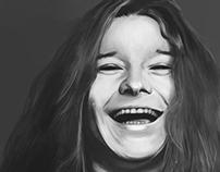 Janis Joplin digital portrait.