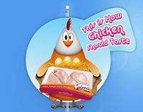 Sina chicken POS material