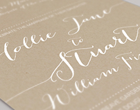 Hollie & Stuart's Wedding Invitation