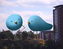 The blue birds of spring