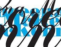 Typographic posters / Шрифтовые плакаты