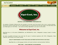 Equi-Cool HVAC - Website Editorial & Design