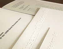 Printed Matter for Special Event at NYC Museum