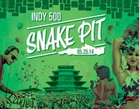 2014 Indy 500 Snake Pit Website and Campaign Design