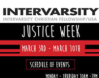 Intervarsity: Justice Week Promotional Material